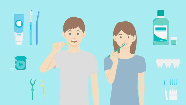 Dreng-og-pige-praktiserer-god-mundhygiejne