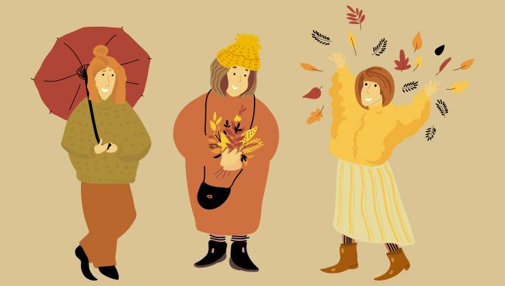 Glade kvinder efteraar