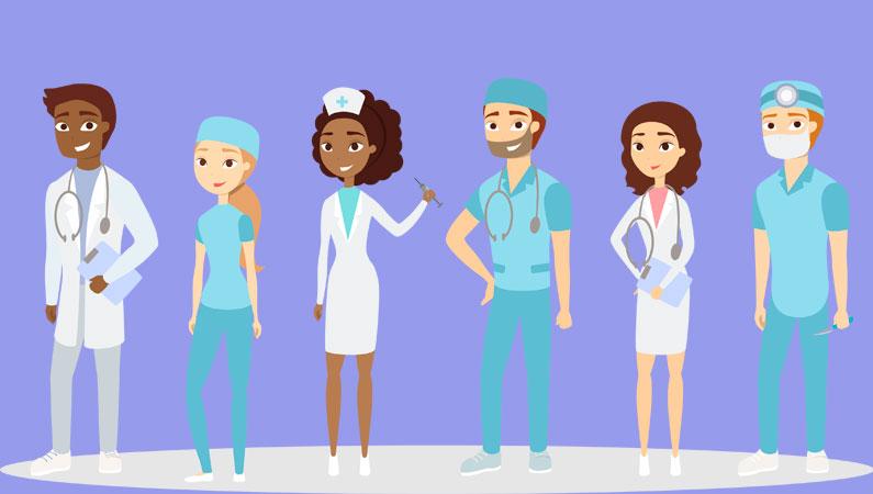 Doktor og sygeplejerske