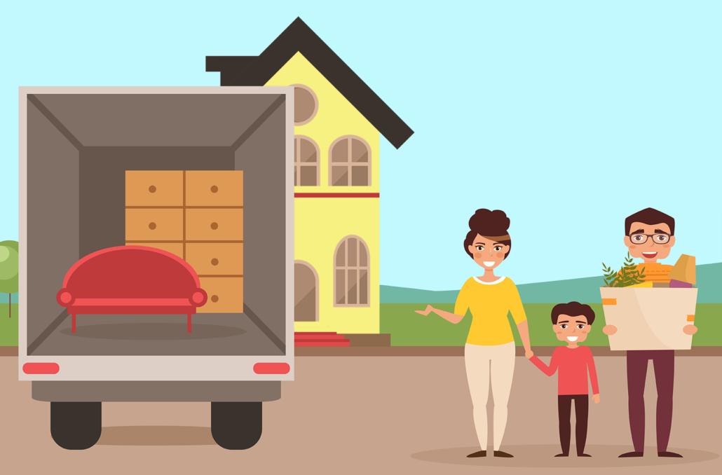 familie-flytter-paa-landet