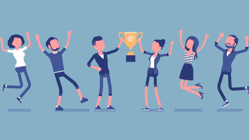 Vindere af teambuilding-aktivitet